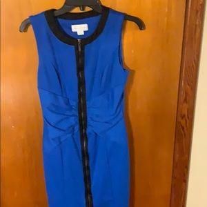 Jessica Simpson blue zip up dress